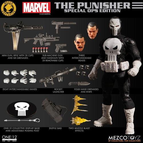 PUNISHER: Special Ops Edition - MDX - SDCC 2018 - ONE:12 Collective - MEZCO