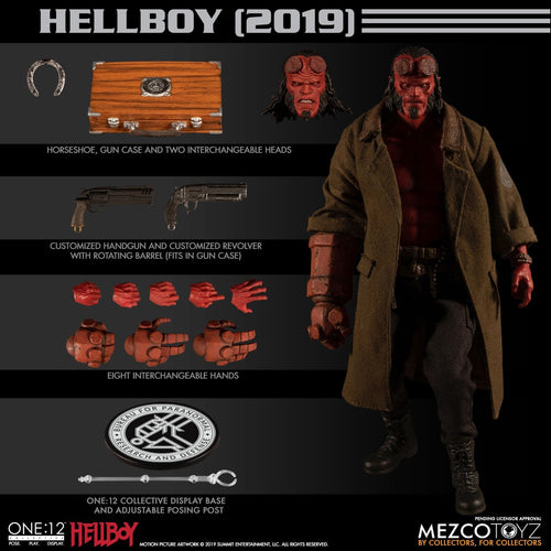 **PRE-ORDER** - HELLBOY (2019) - ONE:12 Collective - MEZCO