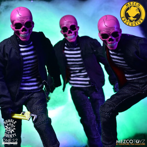 RUMBLE SOCIETY - PINK SKULLS CHAOS CLUB - MDX Exclusive - ONE:12 Collective - MEZCO