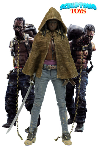The Walking Dead – Michonne with Pet Walkers - 3 Pack Set- ThreeZero / 3A
