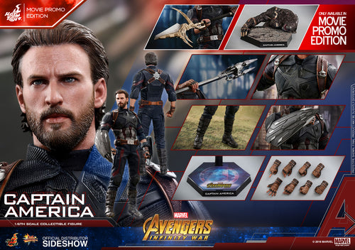 CAPTAIN AMERICA - MOVIE PROMO EDITION - Avengers Infinity War - 1/6th Scale figure - Hot Toys
