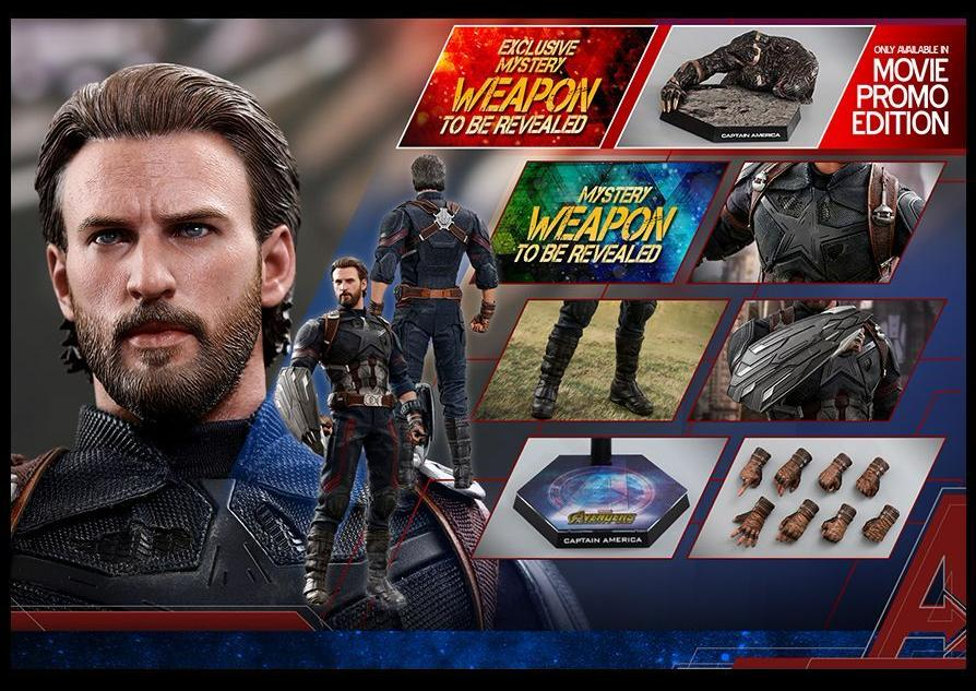 **PRE-ORDER** - CAPTAIN AMERICA - MOVIE PROMO EDITION - Avengers Infinity War - 1/6th Scale figure - Hot Toys