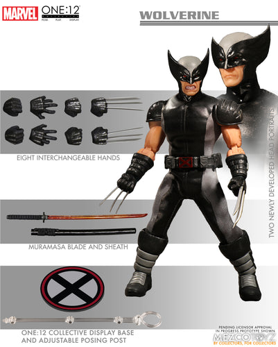 WOLVERINE X-FORCE PX- One:12 Collective Action Figure - MEZCO