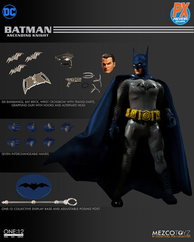 BATMAN: Ascending Knight - BLUE / GRAY VARIANT - PX EXCLUSIVE - One:12 Collective Action Figure - MEZCO