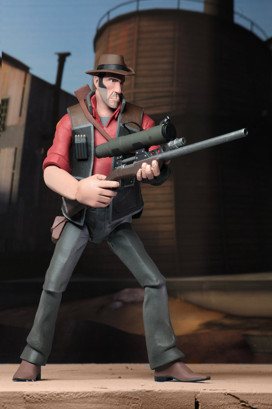 RED SNIPER - Team Fortress 2 – 7″ Scale Action Figure – Series 4 RED - NECA