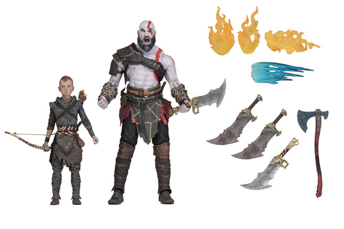GOD OF WAR (2018) -  Ultimate KRATOS & ATREUS 2-Pack - 7