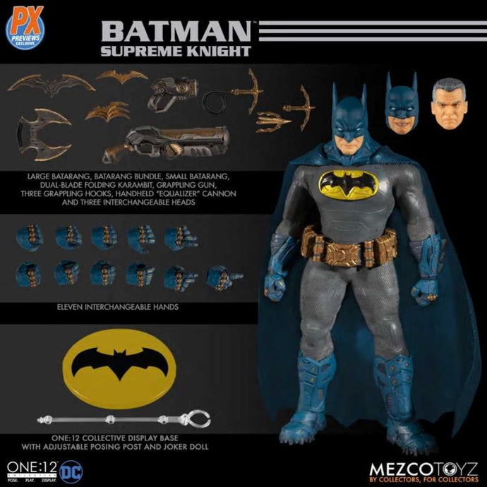 BATMAN: SUPREME KNIGHT - BLUE / GRAY VARIANT - PX EXCLUSIVE - One:12 Collective Action Figure - MEZCO