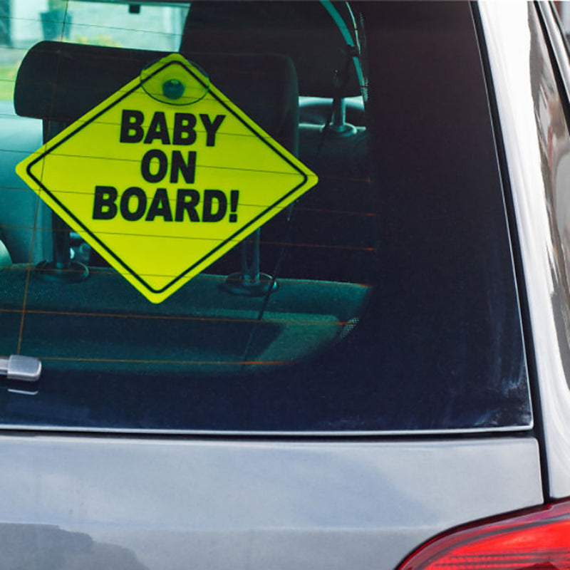 BABY ON BOARD SIGN  - 2 PACK - YELLOW / RED
