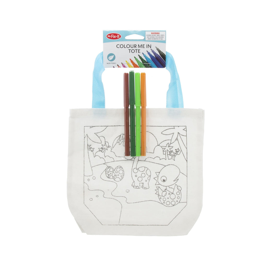 Canvas Tote Bag & Colouring Pens Pack