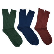Load image into Gallery viewer, Cotton Ribbed Socks 3 Pack