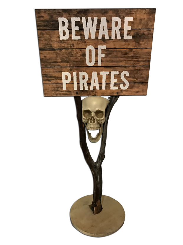 Beware Of Pirates Stand