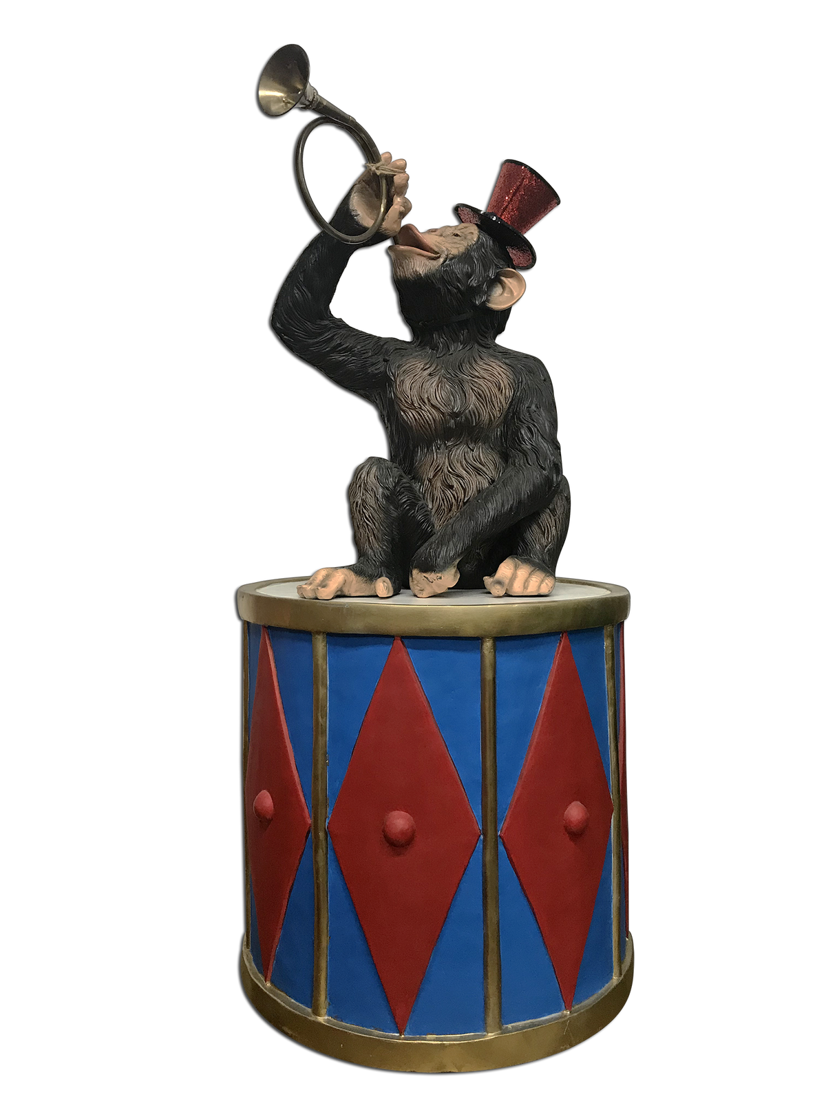 Circus Monkey With Blue Drum