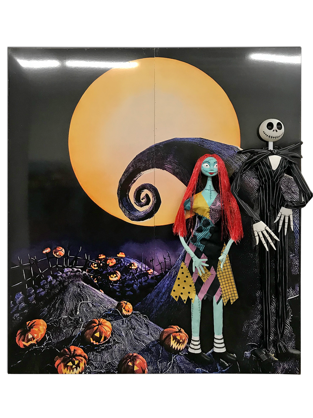 3D Nightmare Before Christmas Backdrop