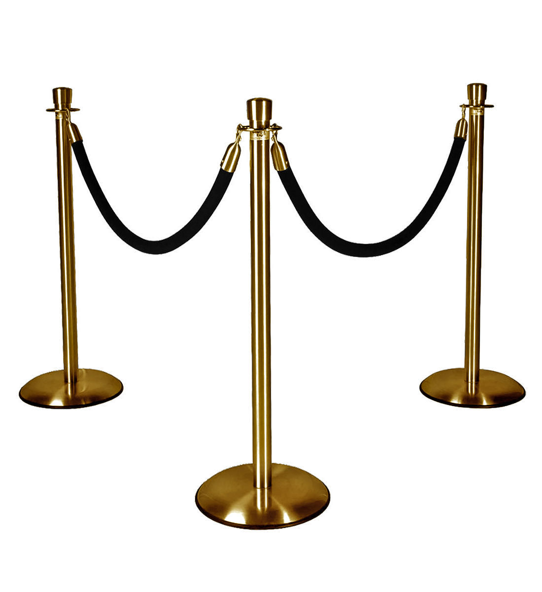 Gold Stanchions with Black Ropes