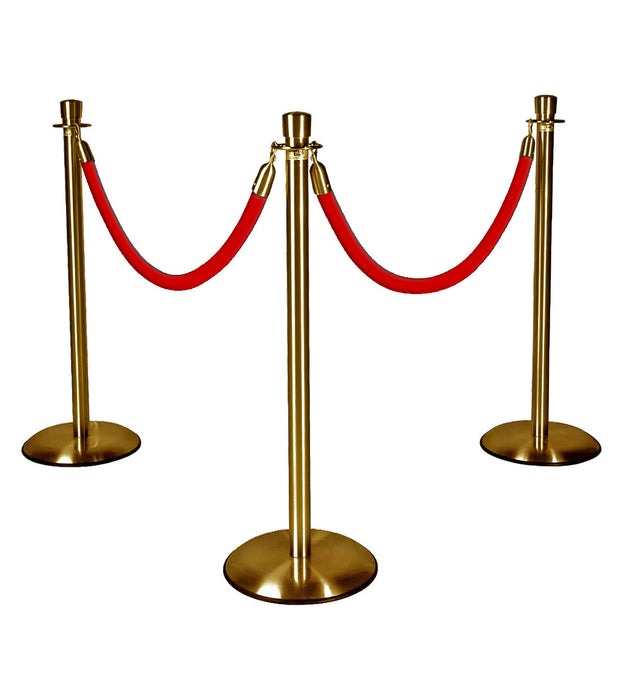 Gold Stanchions with Red Ropes
