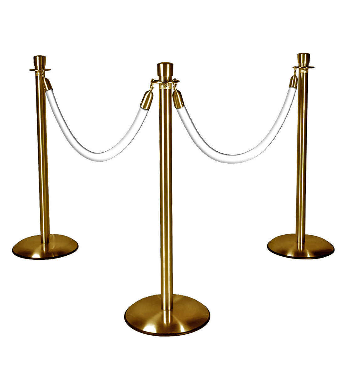 Gold Stanchions w/ White Ropes