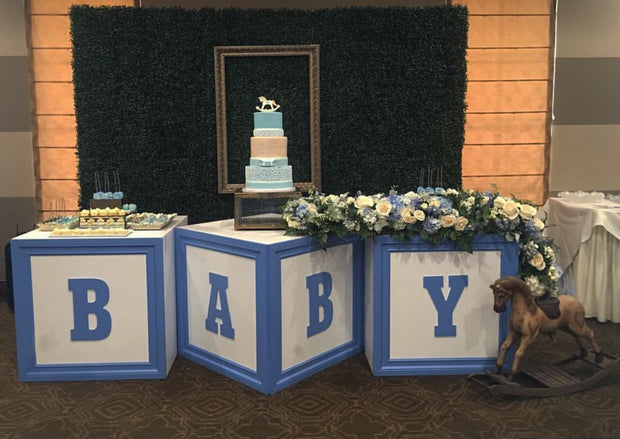 Blue Baby Block Table
