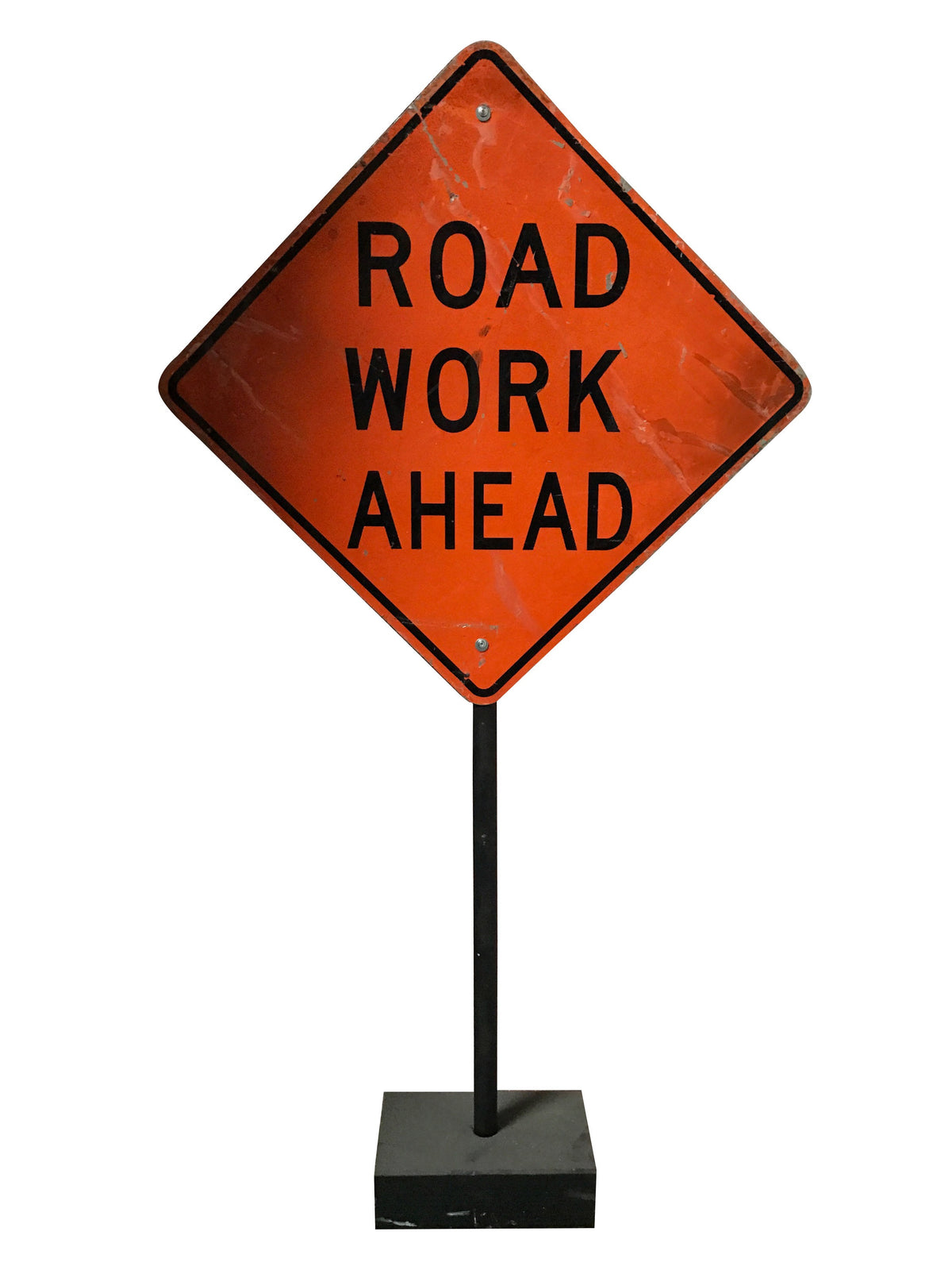 Road Work Ahead Stand