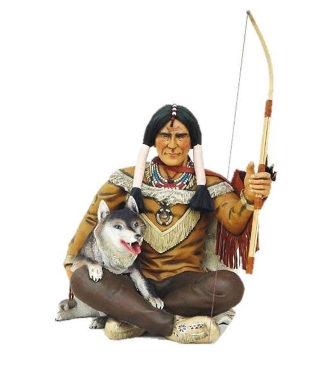 Sitting Indian With Dog