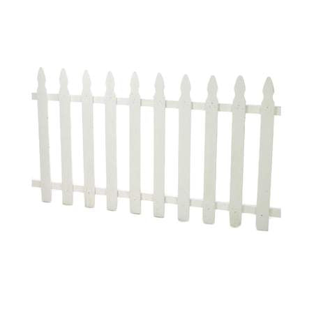 Medium White Picket Fence