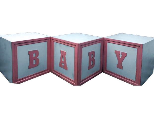 Pink Baby Block Table