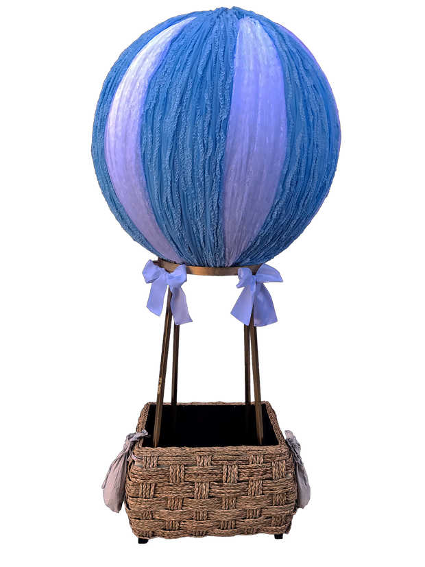 Blue & White Hot Air Balloon