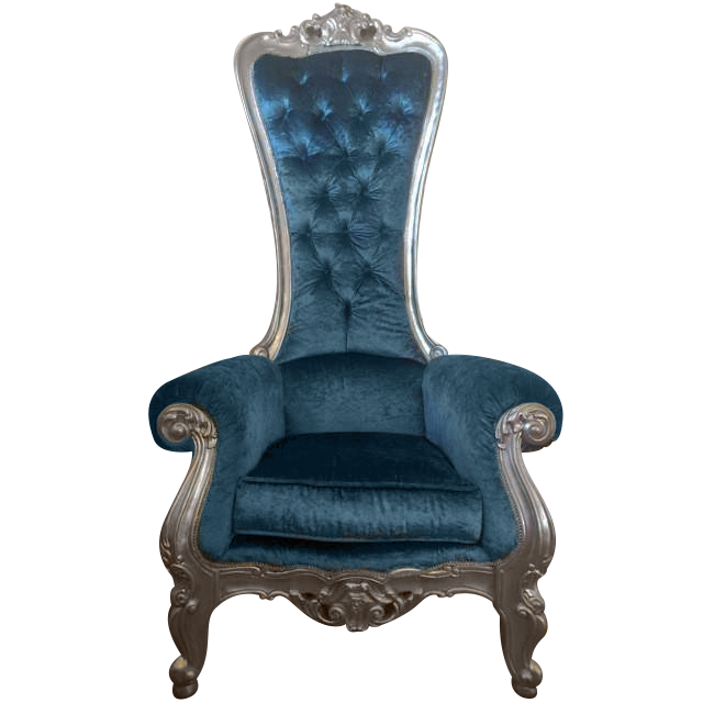 Blue Princess Adult Royal Chair