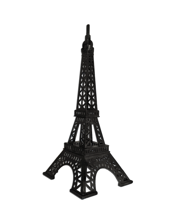 Black Paris Eiffel Tower