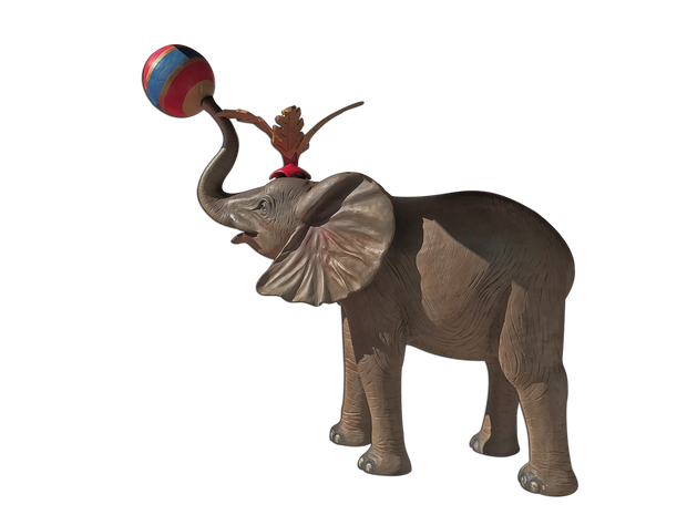 Red Circus Elephant