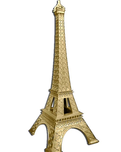 Medium Gold Paris Eiffel Tower