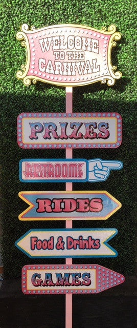Pink Carnival Welcome Sign