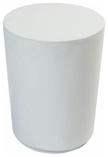 White Cylinder Table (2 Feet Tall)