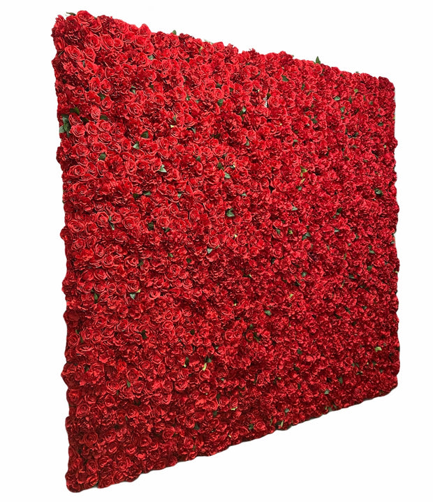 Red Silk Flower Wall