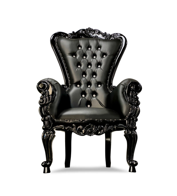 Black Royal Throne Chair