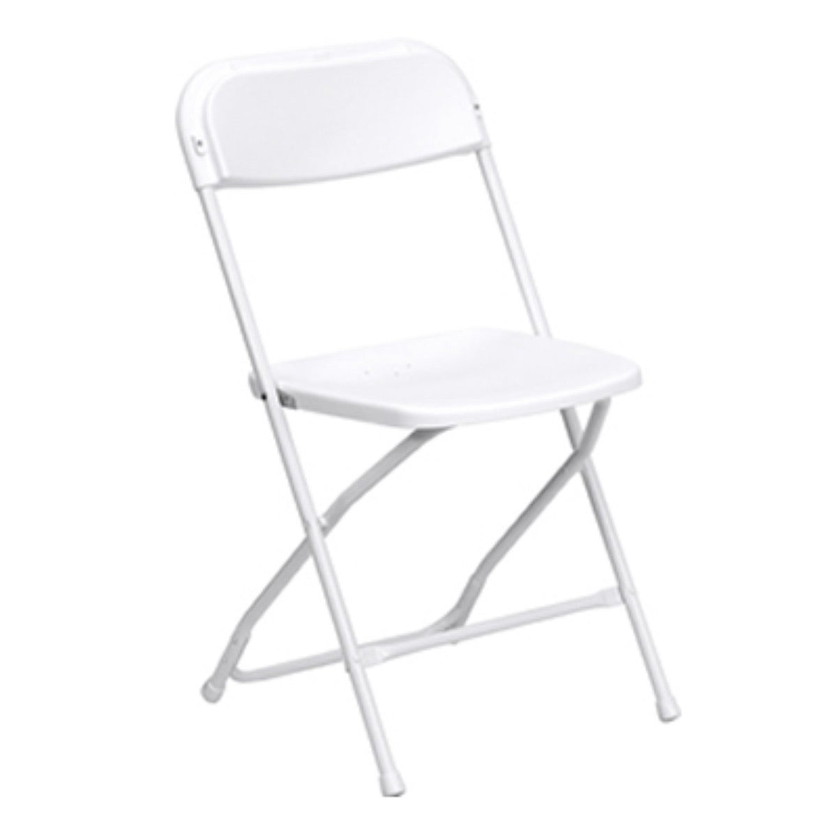 White Plastic Folding Adult Chair