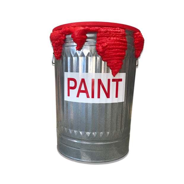 Red Paint Can Table