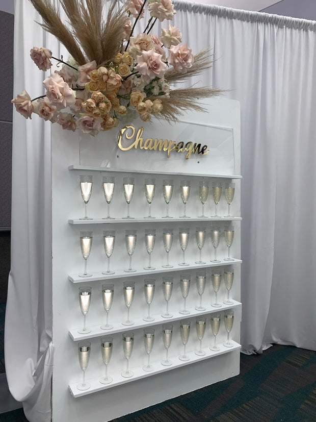Champagne Wall Display