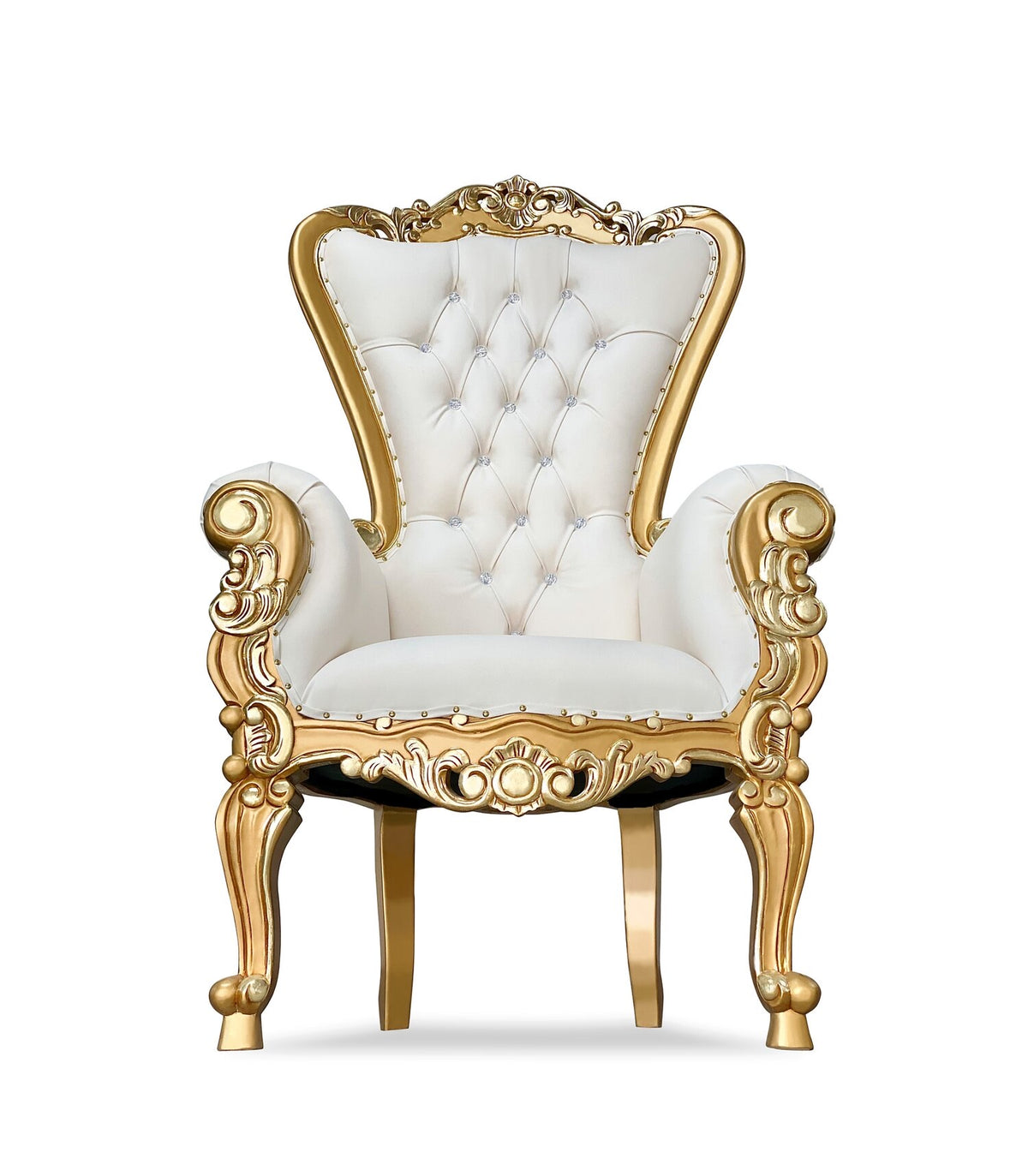 Gold & White Adult Royal Chair