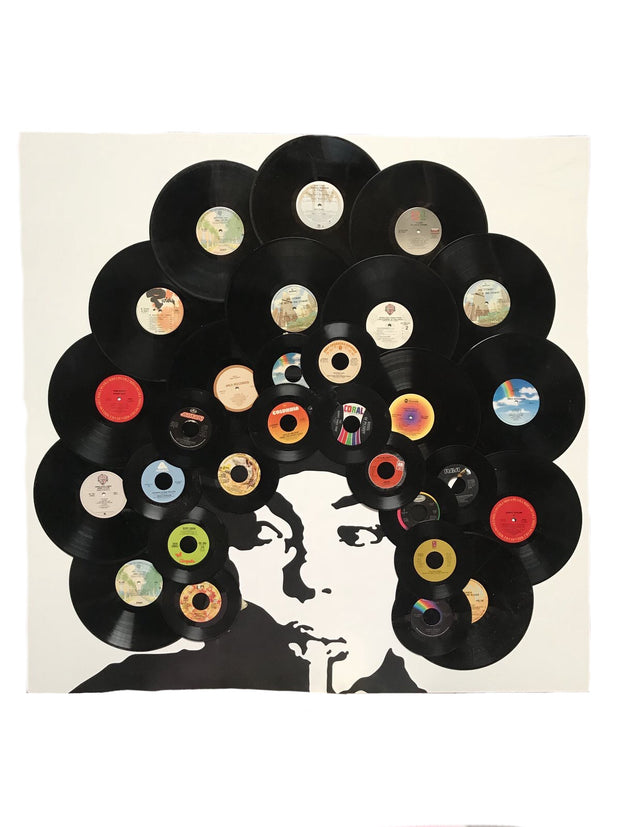 Afro Record Portrait