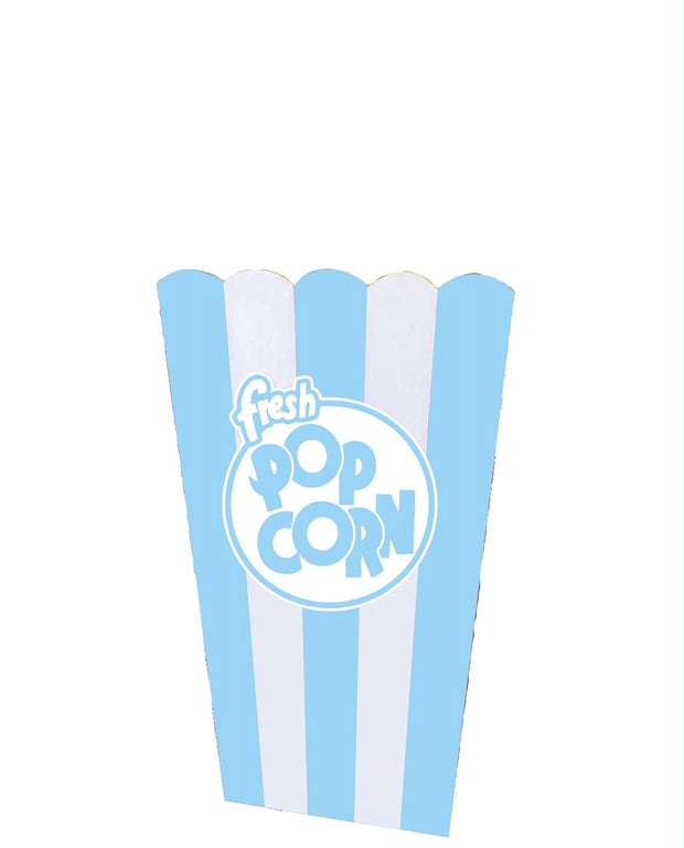Giant Blue Popcorn Box