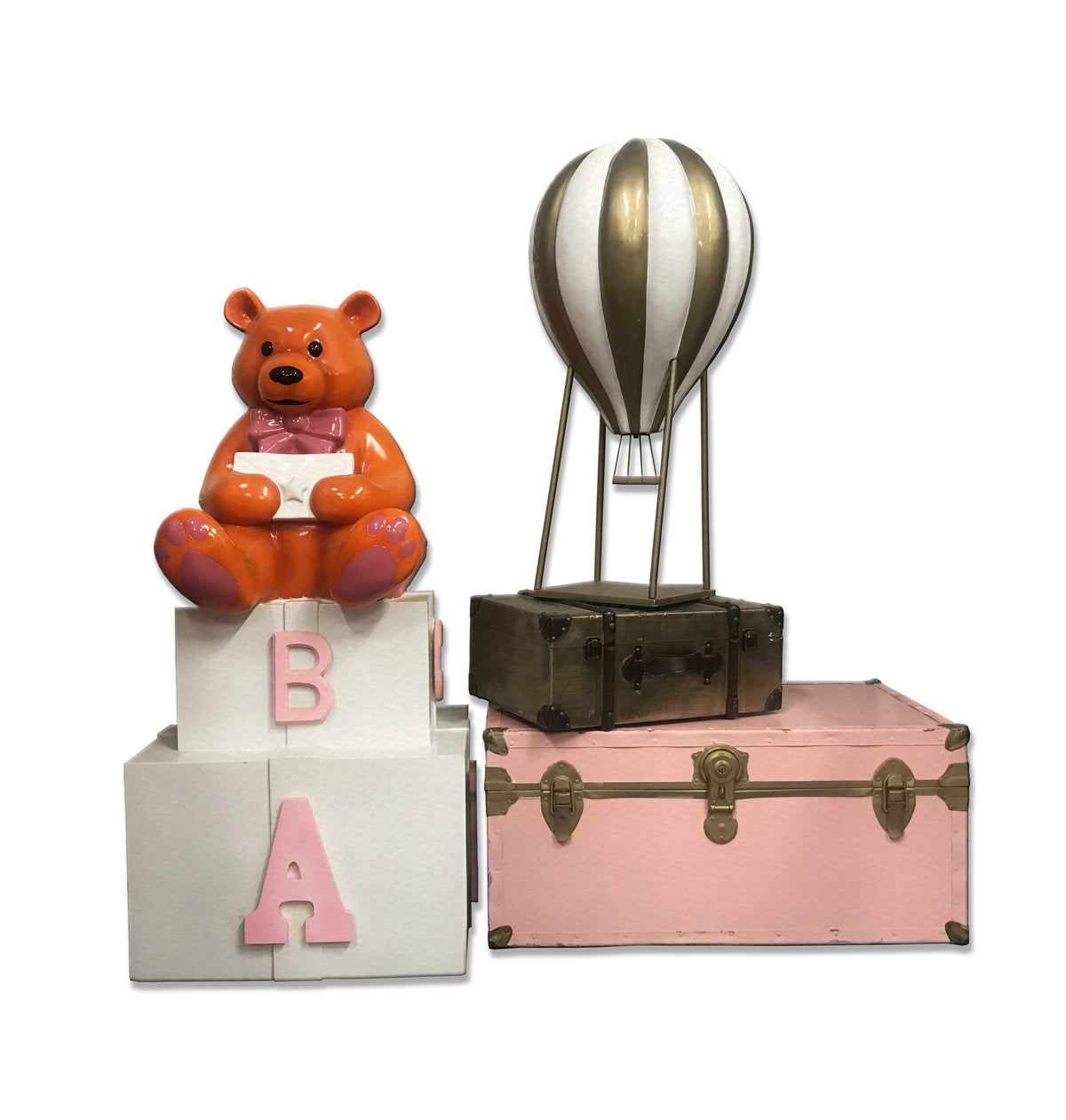 Pink Teddy Bear/Hot Balloon Package