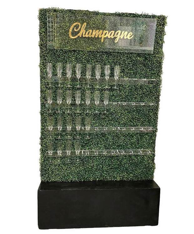 Champagne Hedge Wall Display