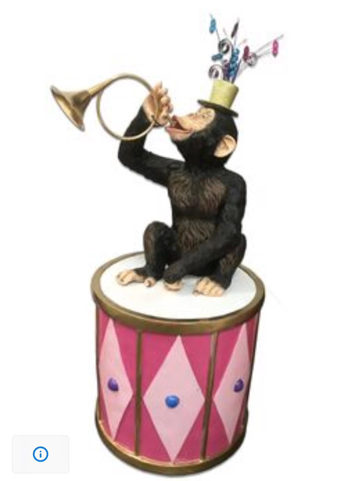 Circus Monkey With Pink Drum