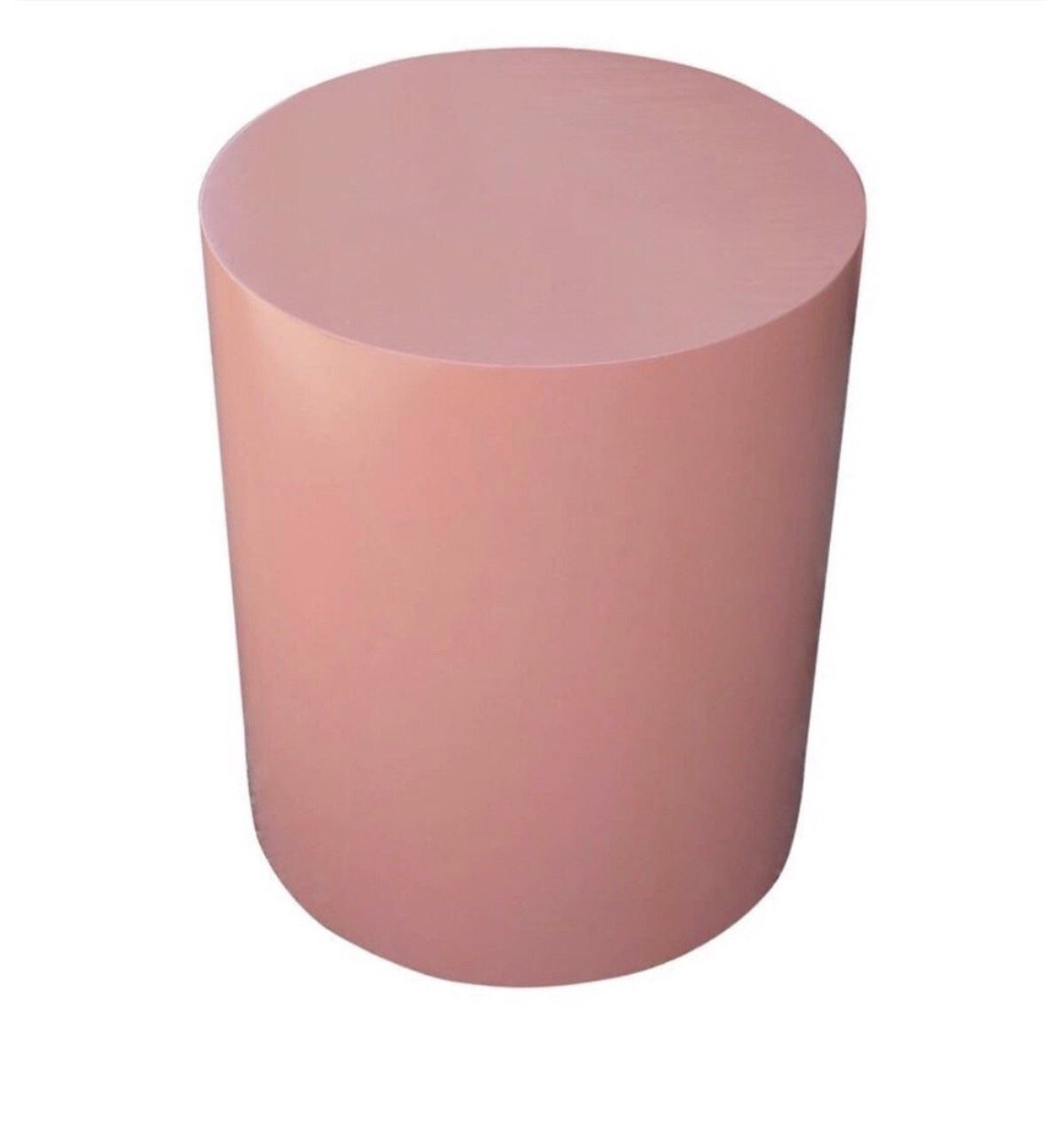 Light Pink Cylinder Table (2 Feet Tall)