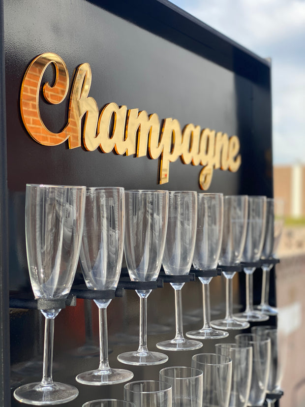 Black Champagne Wall