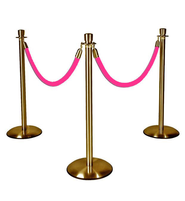 Gold Stanchions w/ Hot Pink Ropes