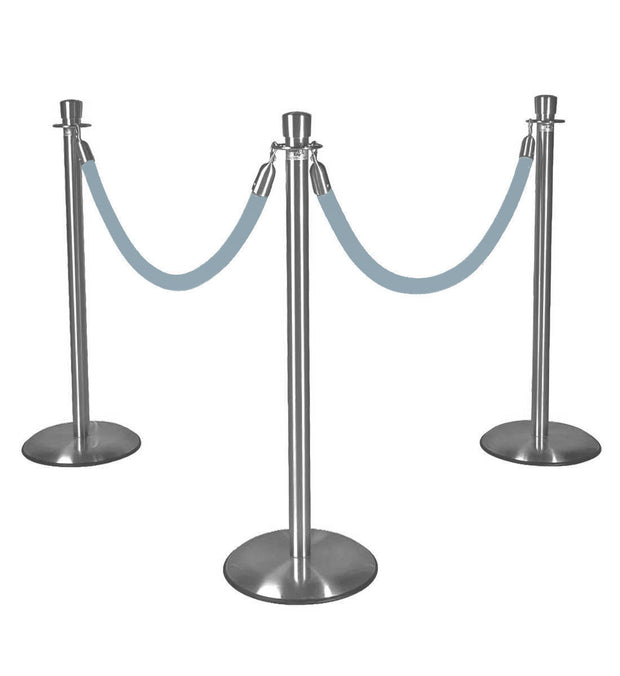 Silver Stanchions w/ Baby Blue Ropes