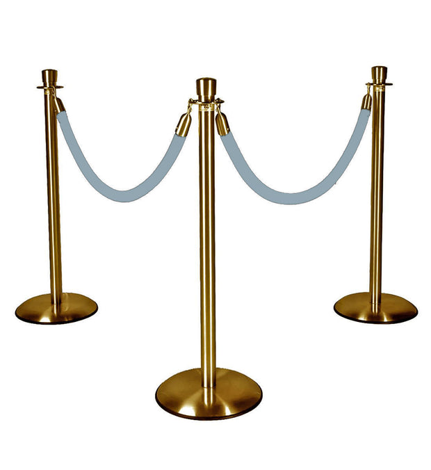 Gold Stanchions w/ Royal Baby Blue Ropes