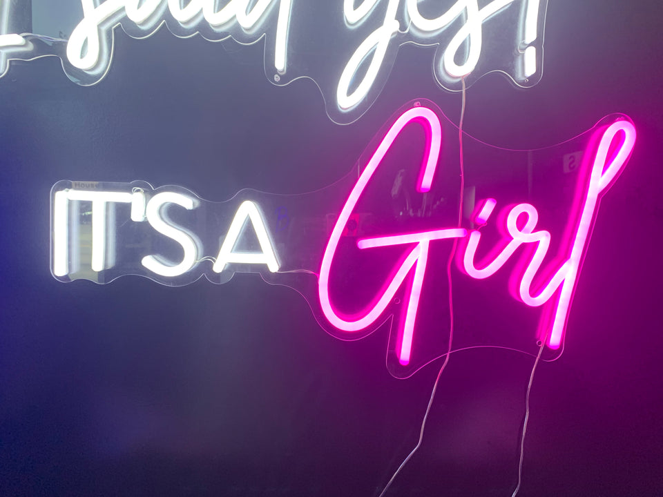It's A Girl LED Signage