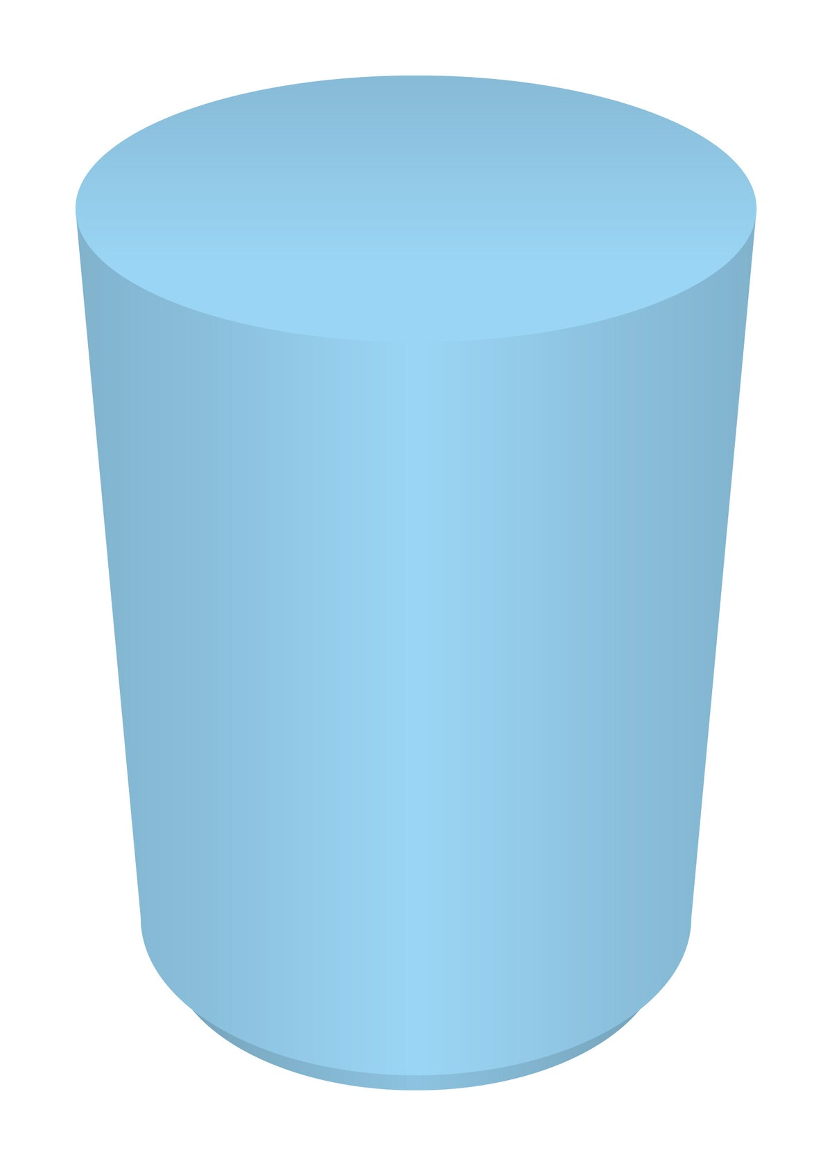 Baby Blue Cylinder Table (3 Feet)